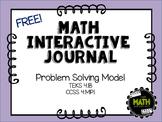 Math Interactive Journal {FREEBIE} - Problem-Solving Model
