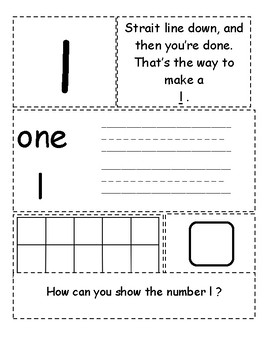 Math Interactive Notebook 1-10