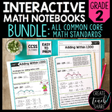 Math Interactive Notebook 2nd Grade Bundle