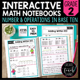 Math Interactive Notebook 2nd Grade Number & Operations in Base Ten