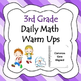 3rd Grade Math Warm Ups BUNDLE {Common Core Aligned}