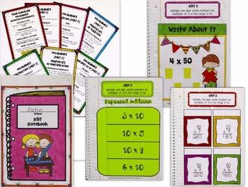 Math Interactive Notebook: 3rd Grade NBT Common Core