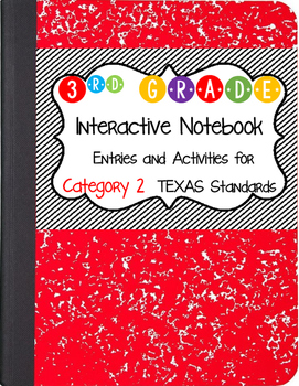 Math Interactive Notebook 3rd Grade Texas Standards 2 and Common Core