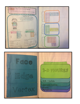 Math Interactive Notebook 3rd Grade Texas Standards 3 and Common Core