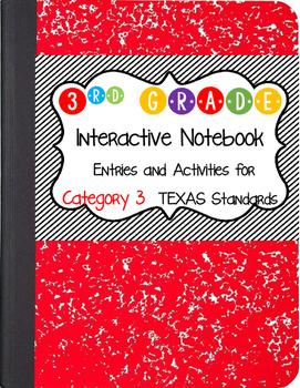 Math Interactive Notebook 3rd Grade Texas Standards 3 and