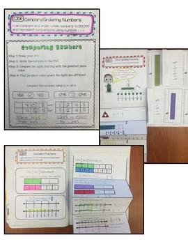Math Interactive Notebook 3rd Grade Texas Standards and Common Core ALL 1-4