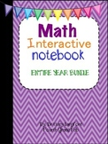 Math Interactive Notebook 4th Grade Edition~ ENTIRE YEAR BUNDLE