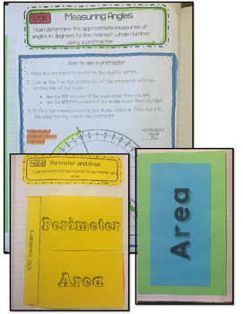 Math Interactive Notebook 4th Grade Texas Standards 3