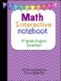 Math Interactive Notebook 4th grade edition August-December