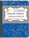 Math Interactive Notebook 5th Grade Texas Standards 2