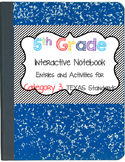 Math Interactive Notebook 5th Grade Texas Standards 3
