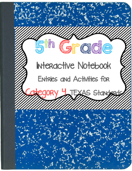 Math Interactive Notebook 5th Grade Texas Standards 4