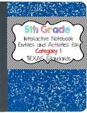 Math Interactive Notebook 5th Grade Texas Standards ALL CATEGORIES