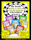 Math Interactive Notebook 6th Grade ALL YEAR FOLDABLE BUNDLE + Vocab!