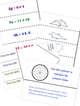 Math Interactive Notebook 7th Grade ALL YEAR FOLDABLE BUNDLE + Vocab!