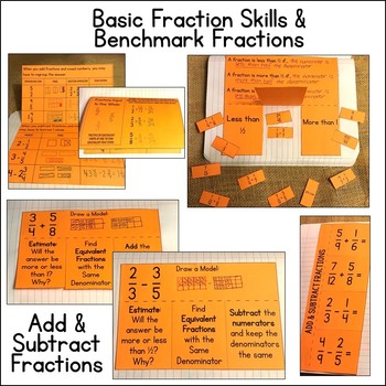 Math Interactive Notebook: Add and Subtract Fractions