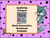 Math Interactive Notebook - Applying Integers Foldable Page