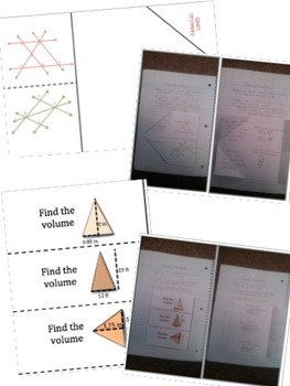 Math Interactive Notebook - Assessments & FOLDABLES Angles & Volume - 8th Gr