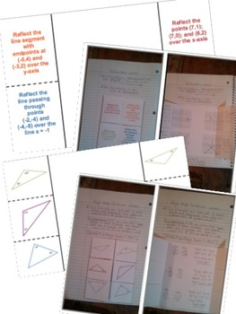 Math Interactive Notebook Assessments & FOLDABLES Congruence & Similarity 8th Gr