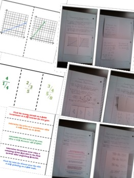 Math Interactive Notebook Assessments & FOLDABLES Proportional Reasoning 7th Gr