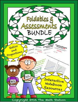 Math Interactive Notebook Assessments & FOLDABLES Proporti
