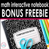 Math Interactive Notebook BONUS Freebie