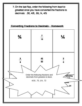Math Interactive Notebook: Converting fractions to decimals
