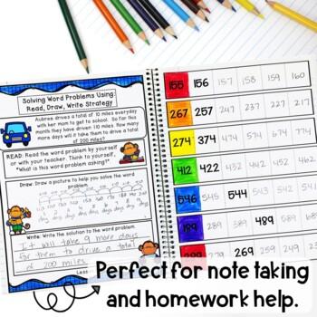Math Interactive Notebook Grade 2 Module 3