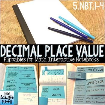 Math Interactive Notebook: Grade 5 Decimal Place Value Flippables