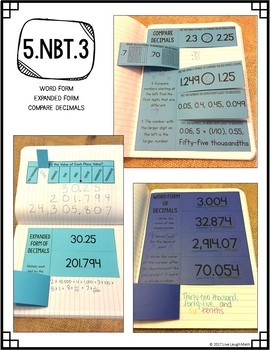 Math Interactive Notebook: Grade 5 Decimal Place Value Foldables