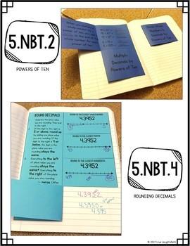 Math Interactive Notebook: Grade 5 Decimal Place Value Foldables