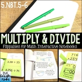 Math Interactive Notebook: Grade 5 Multiplication and Division