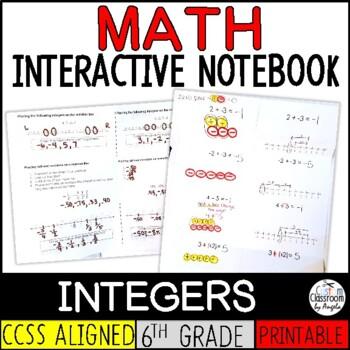 Math Interactive Notebook: Integer Foldables
