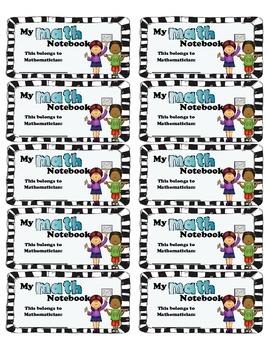 Math Interactive Notebook Labels