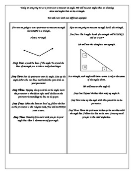 Math Interactive Notebook: Measuring Angles