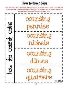 Math Interactive Notebook-Money