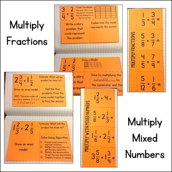 Math Interactive Notebook: Multiply Fractions & Mixed Numbers
