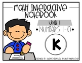 Math Interactive Notebook: Numbers 1-10