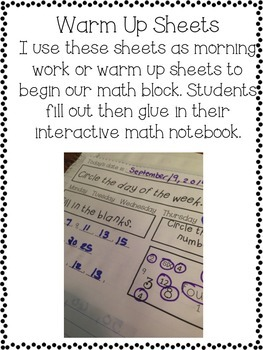 Math Interactive Notebook: Numbers and Place Value
