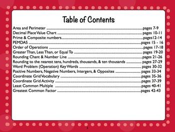 Math Interactive Notebook Part 2 Grades 3-5