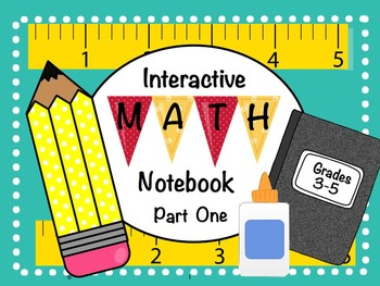 Math Interactive Notebook Part One