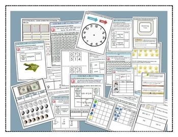 Math Interactive Notebook Printables  -BUNDLE Grades 2-5