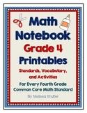 Math Interactive Notebook Printables -Grade 4