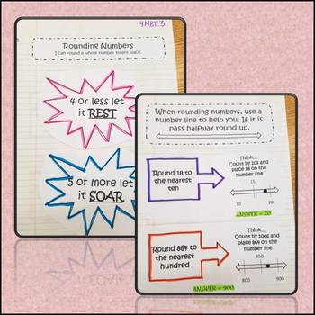 Math Interactive Notebook Rounding Common Core Aligned 4.NBT.3