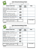 Math Interactive Notebook Rubric