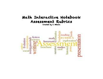 Math Interactive Notebook Rubrics