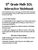 Math Interactive Notebook SOL 5.18 Patterns