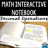 Math Interactive Notebook Sample: Decimal Operations Foldable