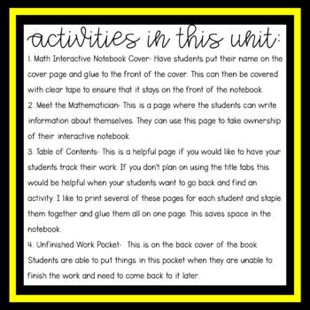 Math Interactive Notebook Starter