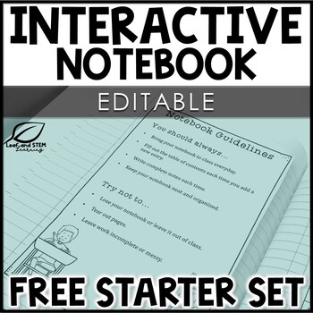 Math Interactive Notebook Starter Set | EDITABLE